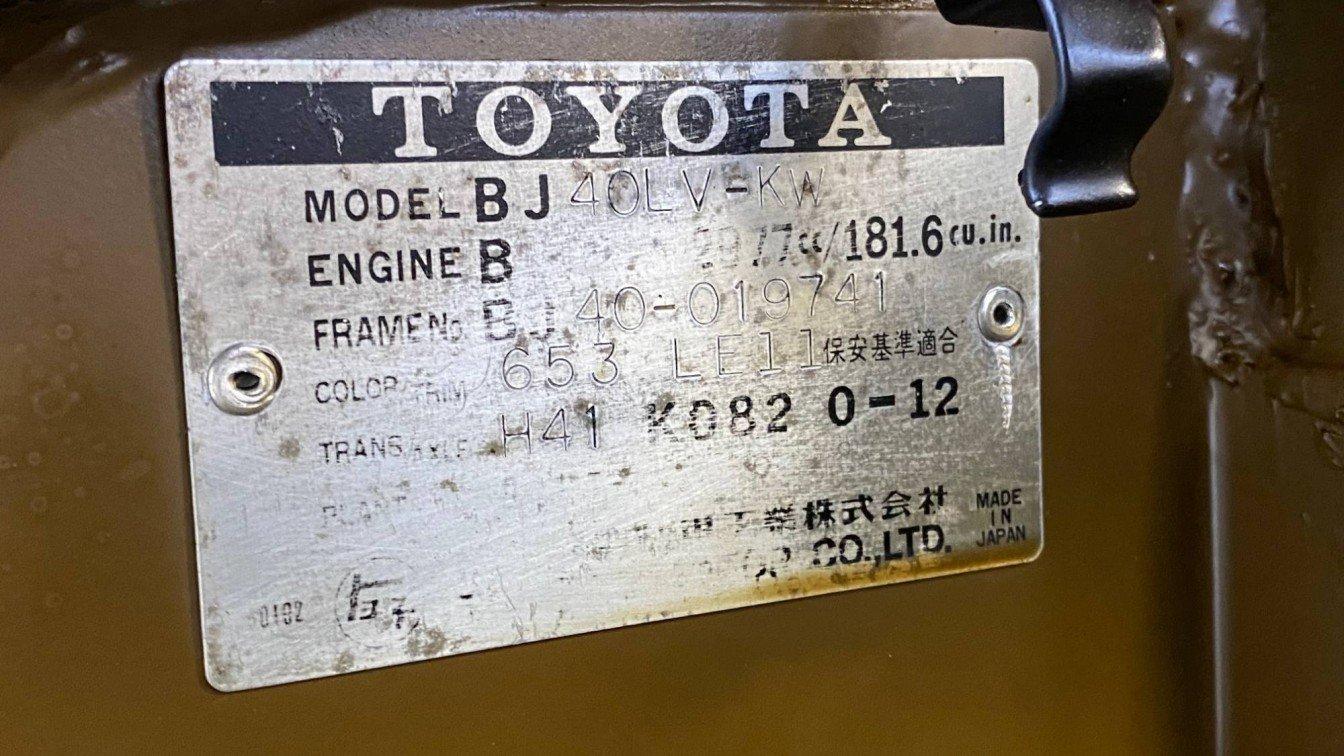 Toyota Landcruiser BJ40